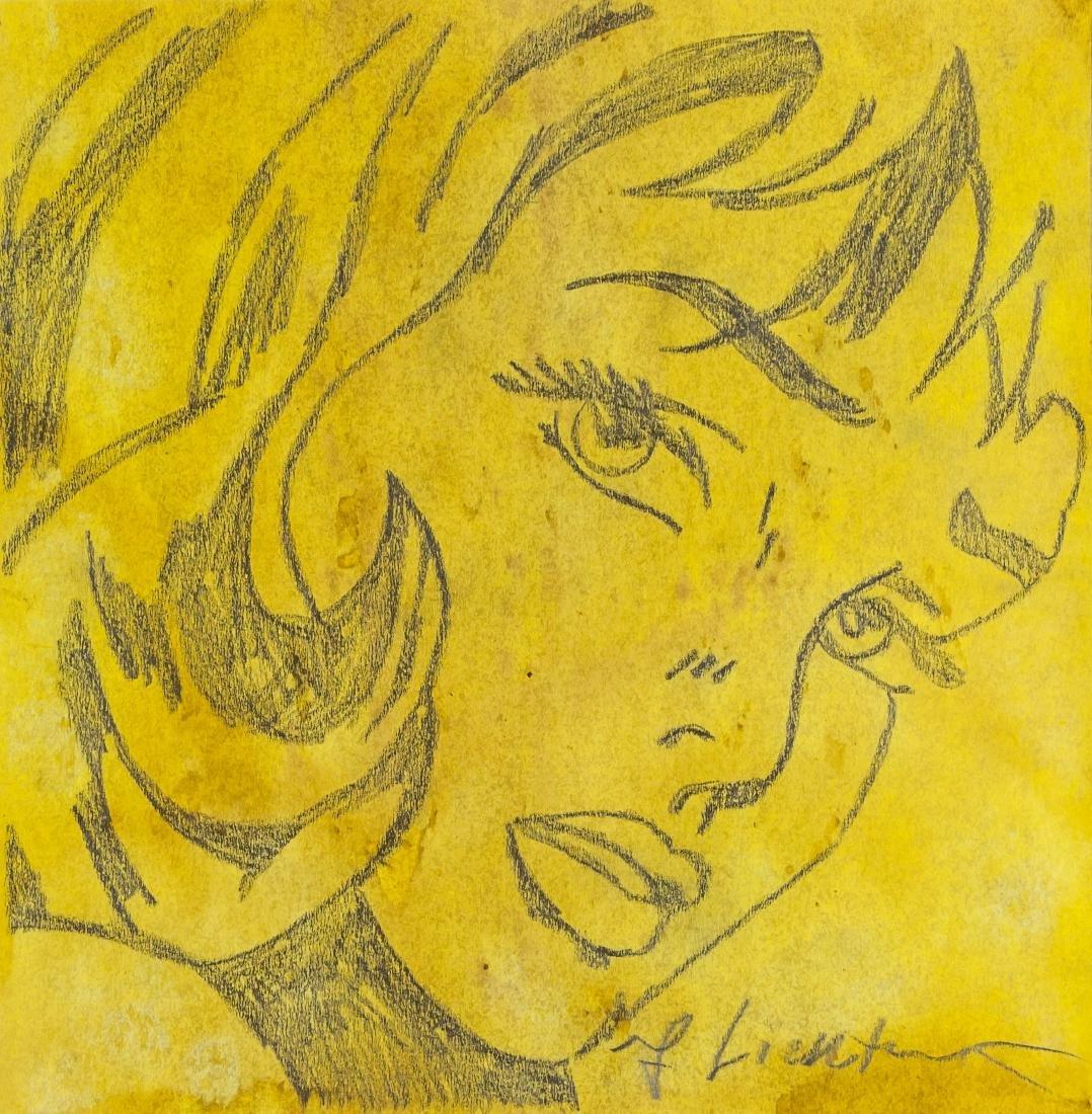 Roy Lichtenstein 1923-1997 US Pencil Pop Art Lady