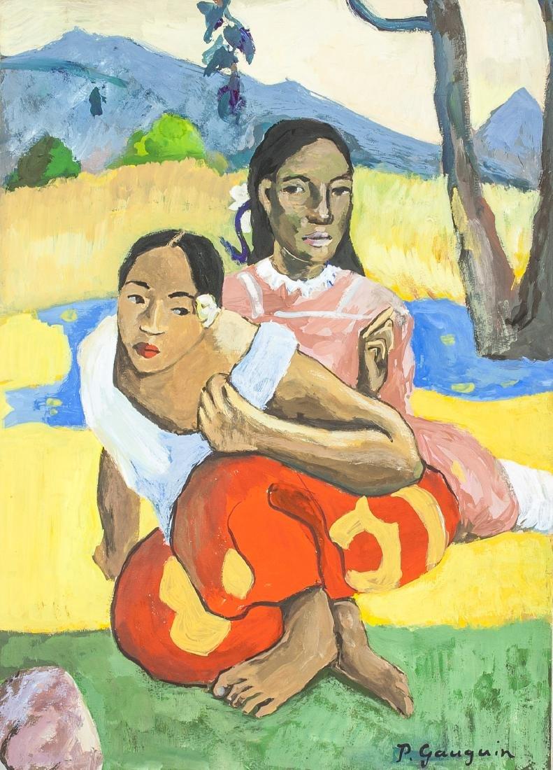 Paul Gauguin 1848-1903 Watercolour & Tempera COA
