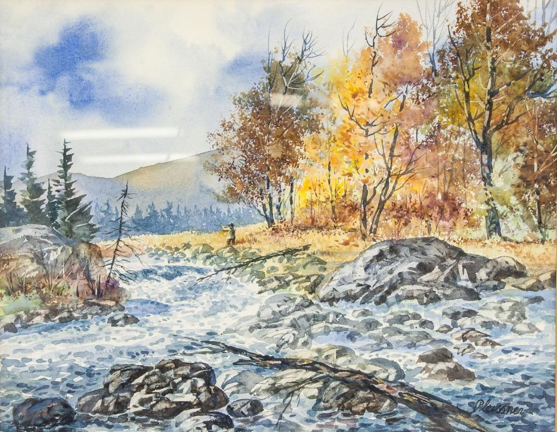 Ogden Pleissner 1905-1983 WC Autumn Hunting