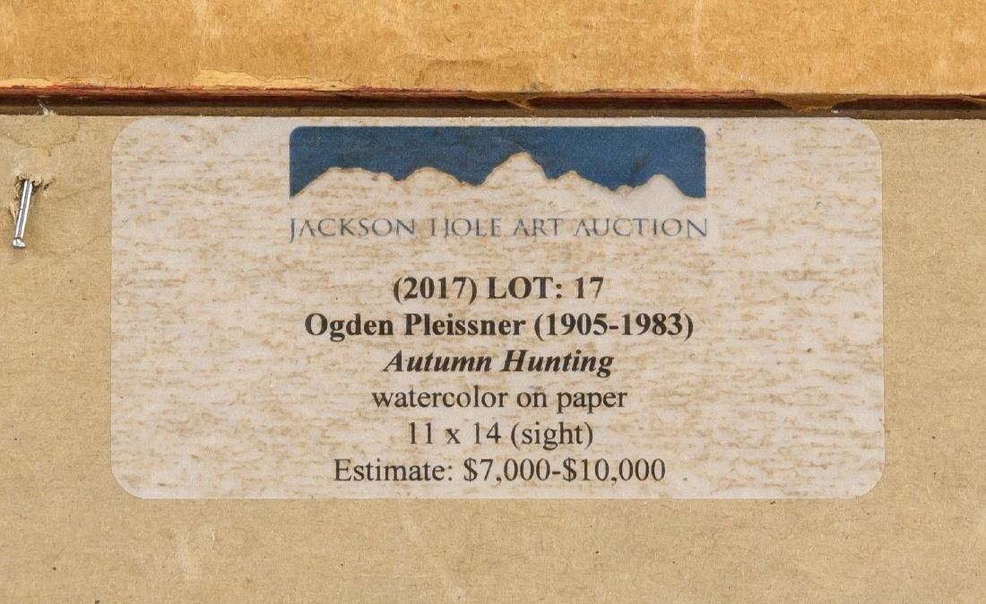 Ogden Pleissner 1905-1983 WC Autumn Hunting - 6