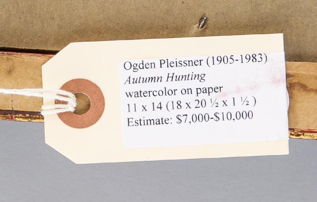 Ogden Pleissner 1905-1983 WC Autumn Hunting - 7