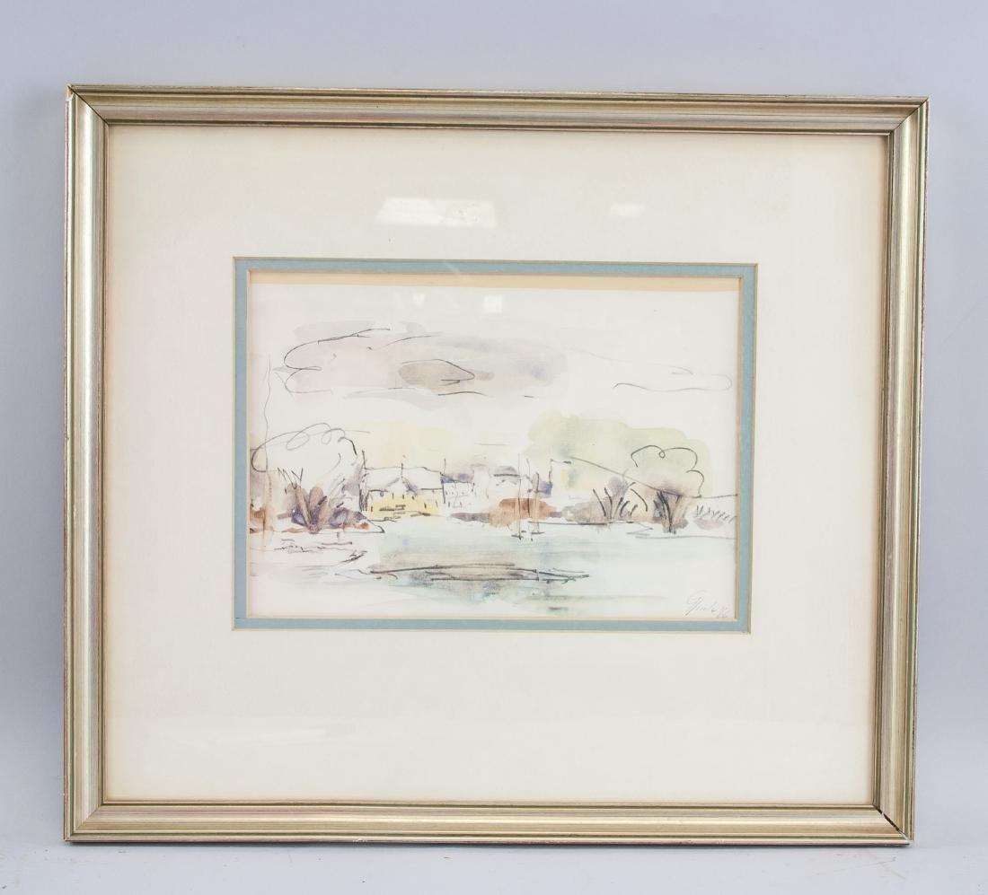 WC & Ink Dated '66 Lachine Landscape Scene - 2