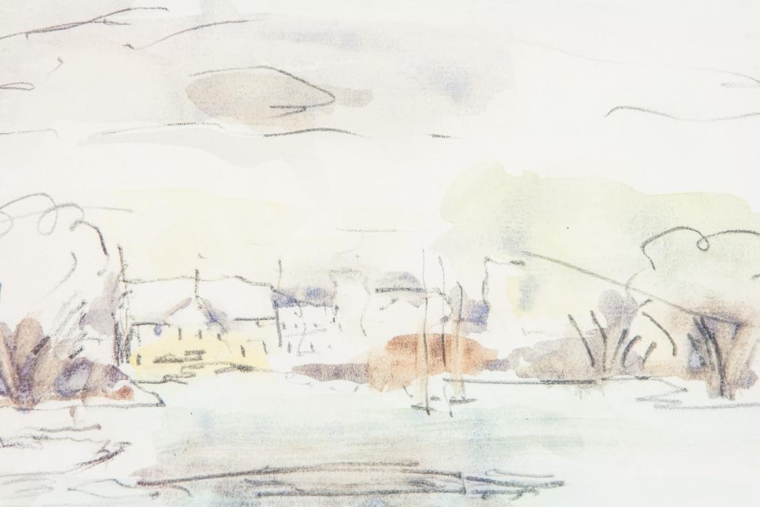 WC & Ink Dated '66 Lachine Landscape Scene - 3