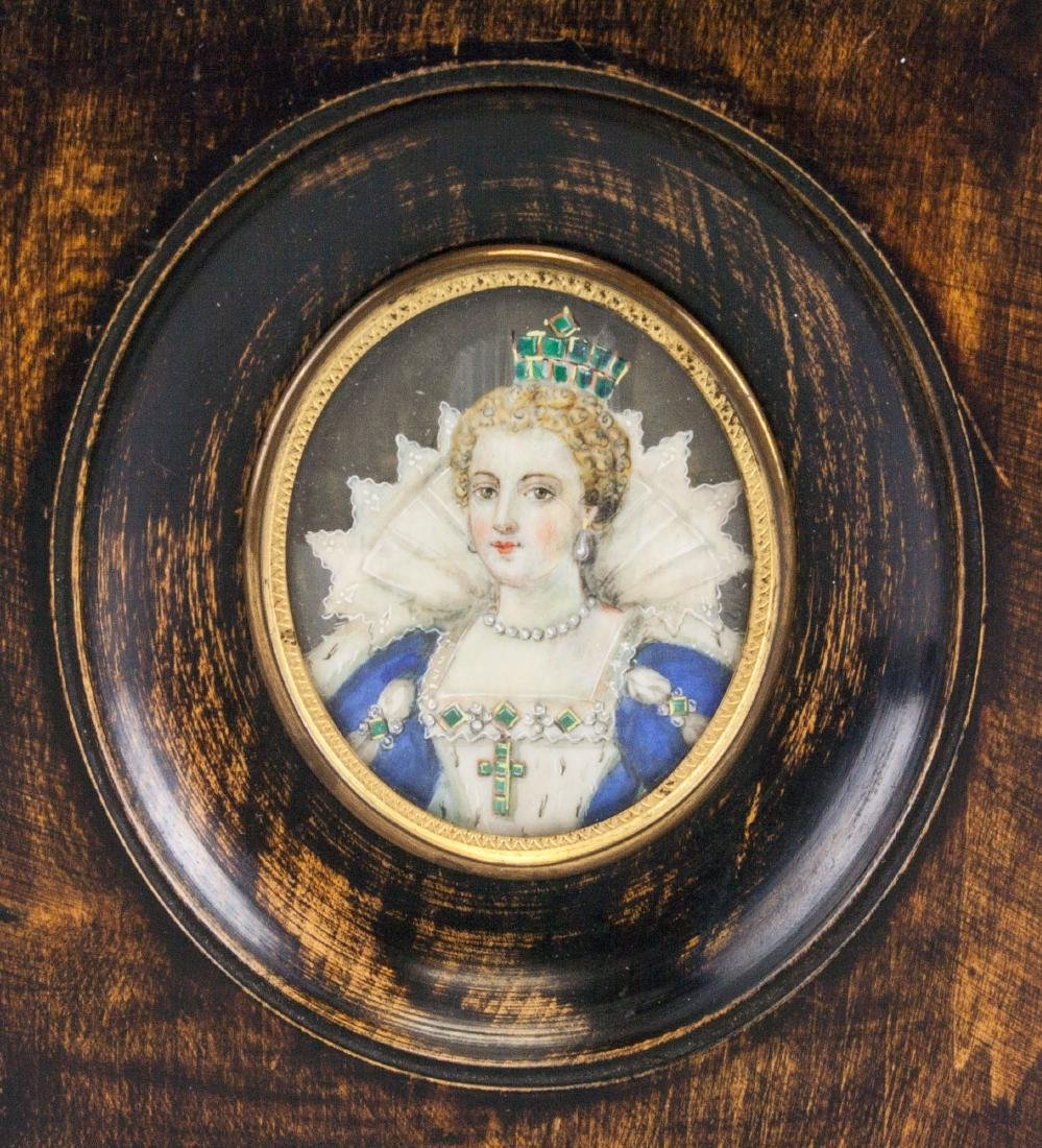 Miniature Painting of Queen Marie De Medici Framed