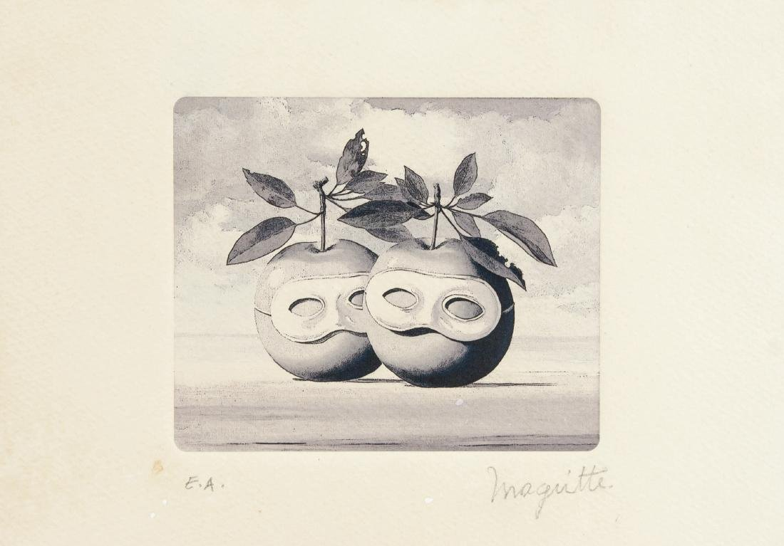 Rene Magritte 1898-1967 Belgium Etching Signed EA