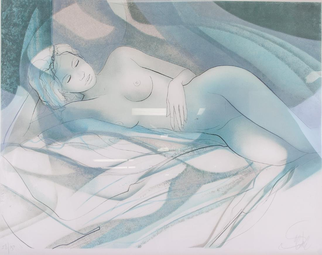 Lithograph of a Nude (58/150) 25.5 x 20 in