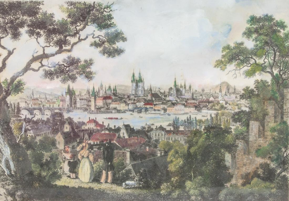 Wilhelm Kandler Print on Linen (1816-1896) 1850