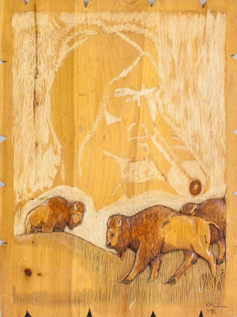 """Keith Morrisseau Wood Carving """"Self Subsistency"""""""