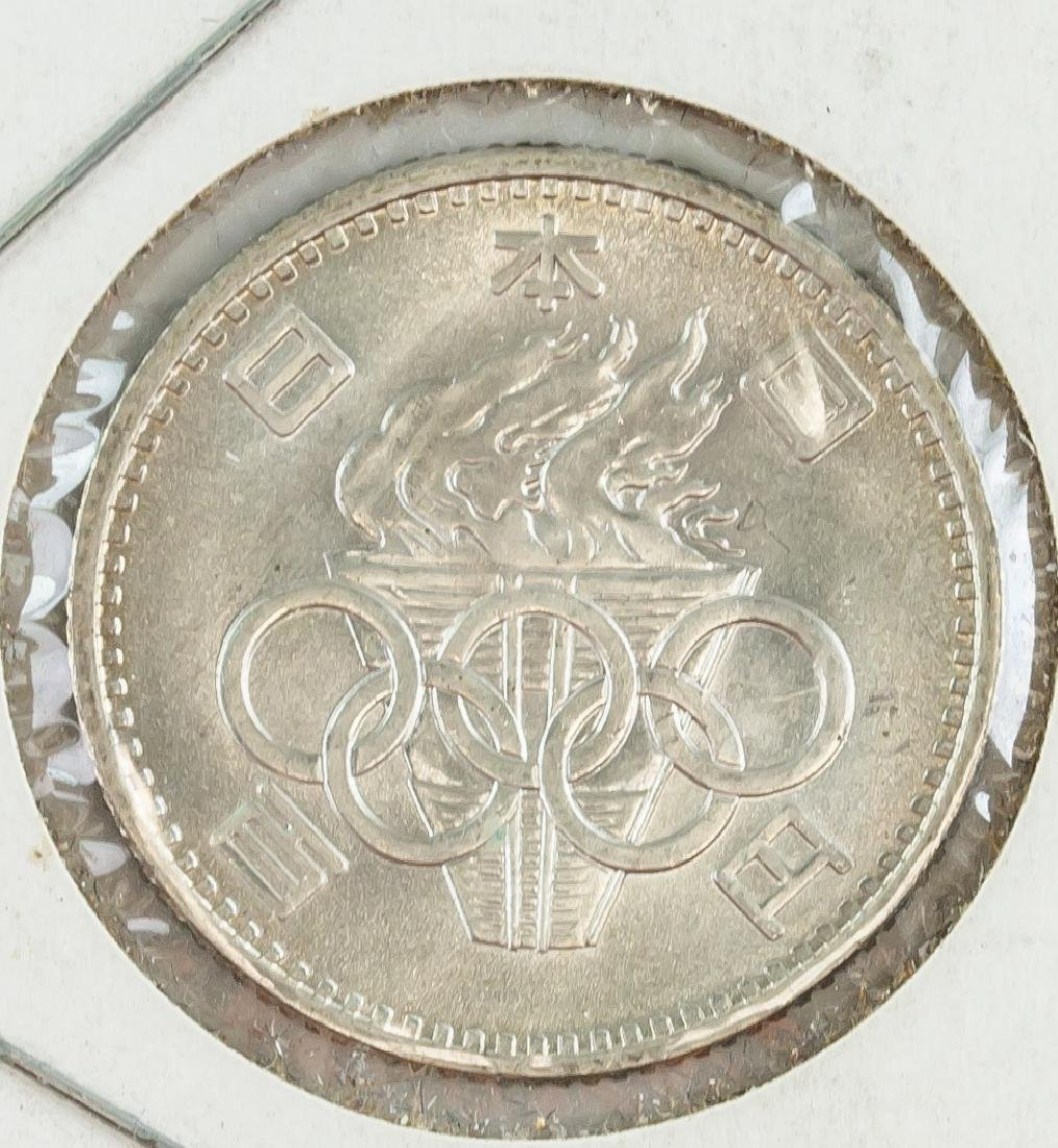 1964 Japanese Showa 100 Yen Silver Coin Y-79