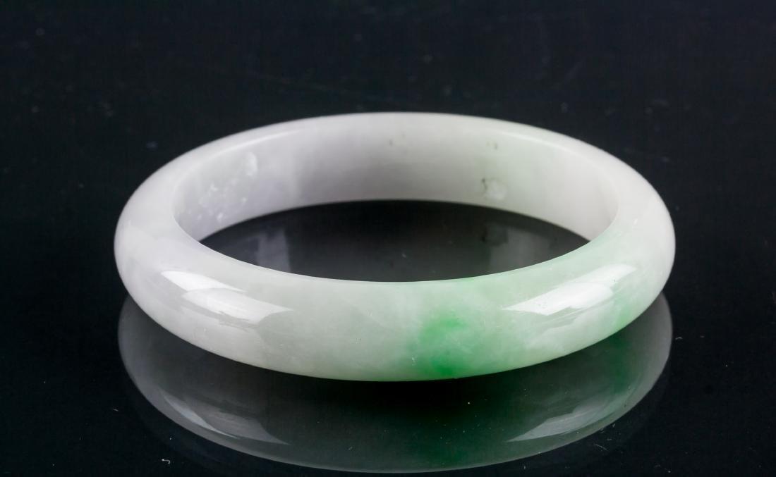 Burma Green & Lavender Jadeite Bangle Grade A Cert