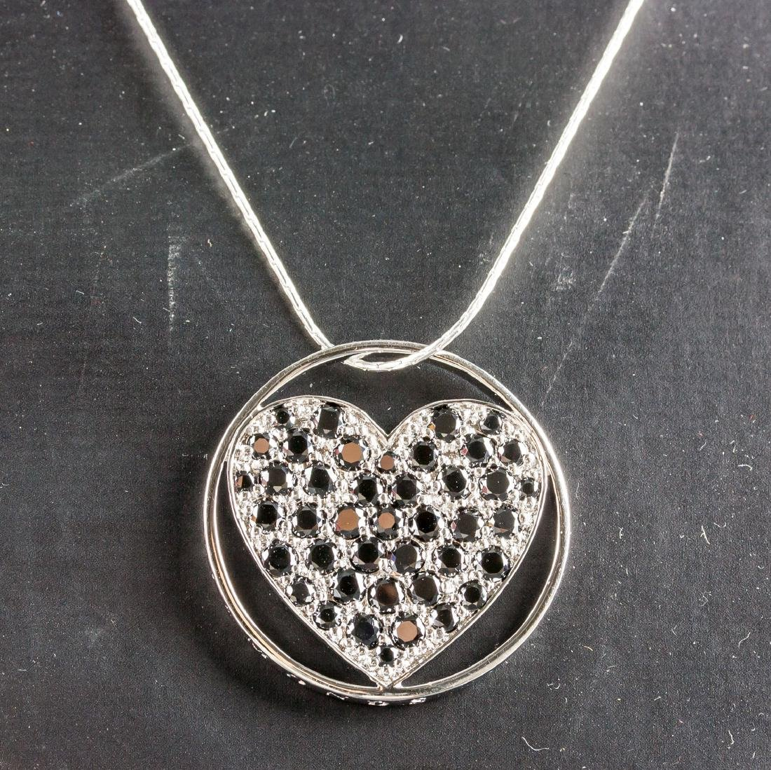 Sterling Silver Crystal Pendant & Chain