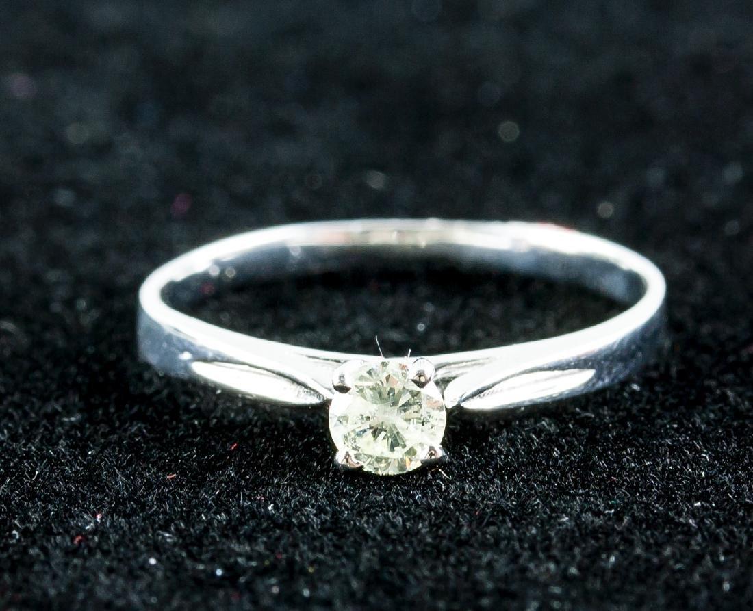 14k Gold 0.21ct Round Brilliant Diamond Ring