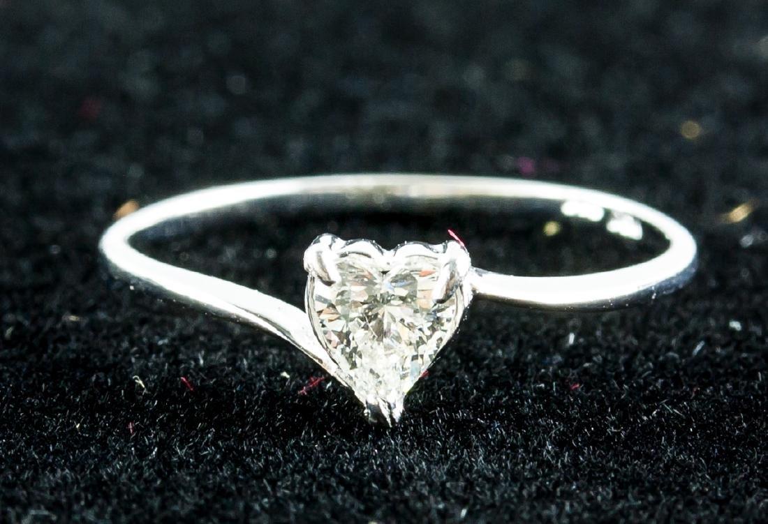 Heart Shaped 0.25ct Diamond Ring