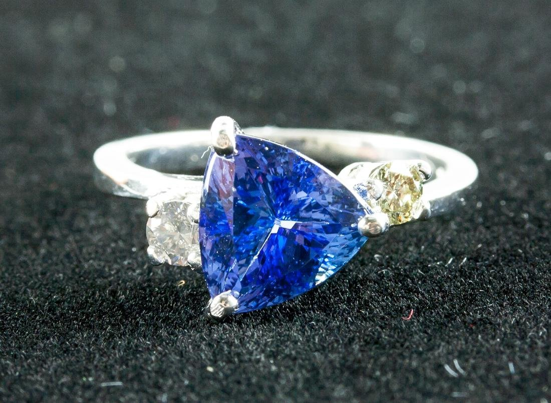 2.60ct Tanzanite & 0.18ct Diamond Ring