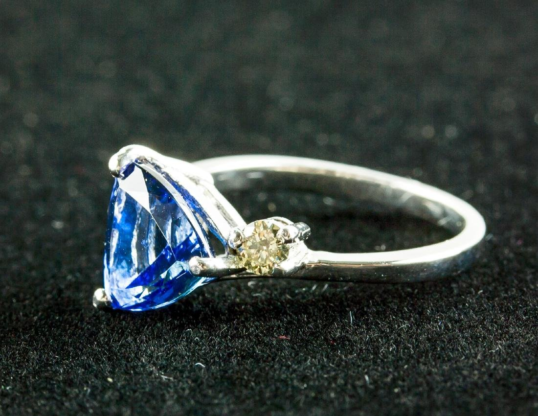 2.60ct Tanzanite & 0.18ct Diamond Ring - 3
