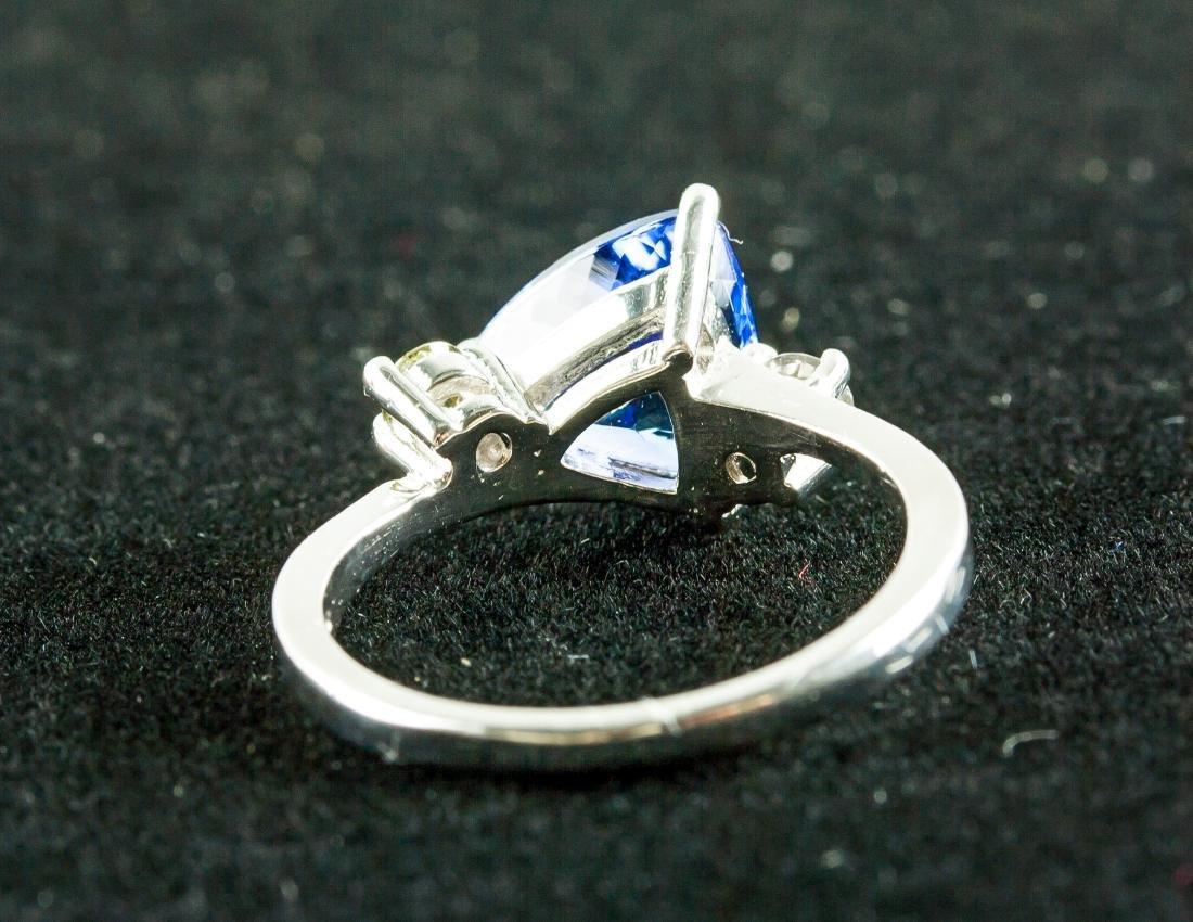 2.60ct Tanzanite & 0.18ct Diamond Ring - 4
