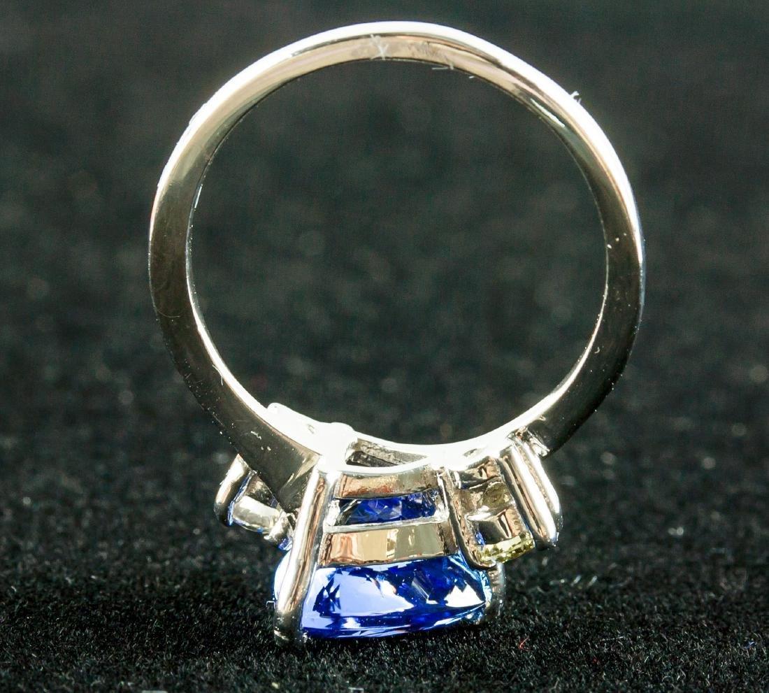 2.60ct Tanzanite & 0.18ct Diamond Ring - 5