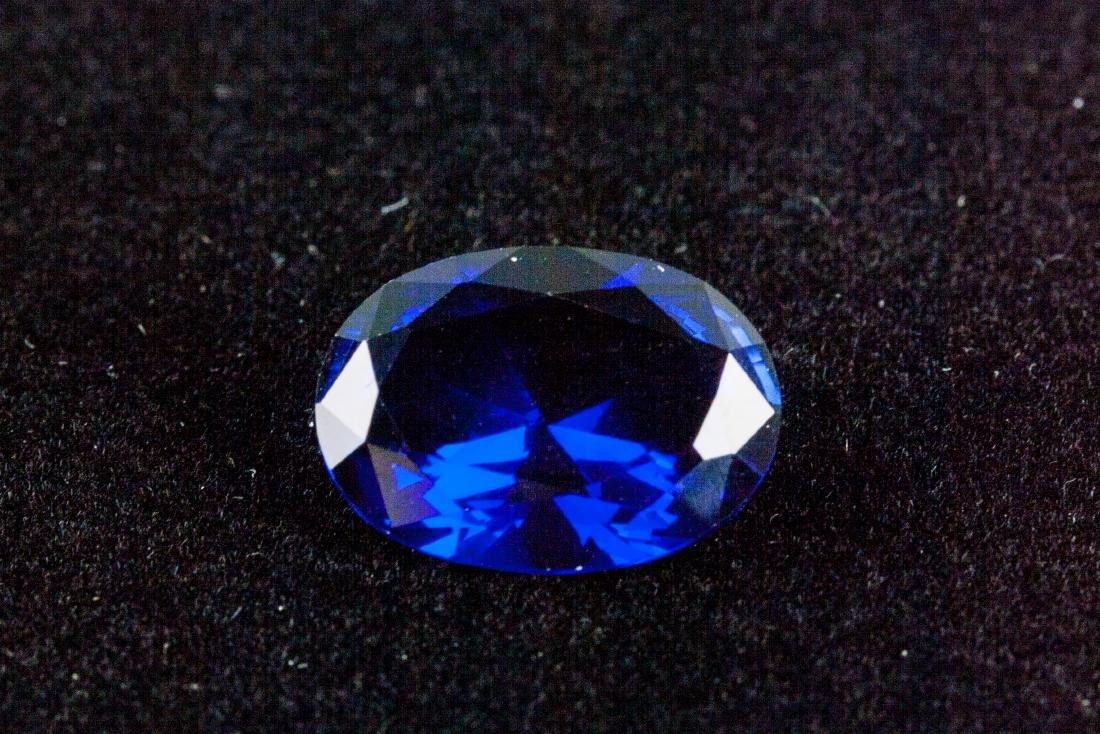 OVAL CUT 14.26 CT ROYAL BLUE SAPPHIRE 13x18mm - 5