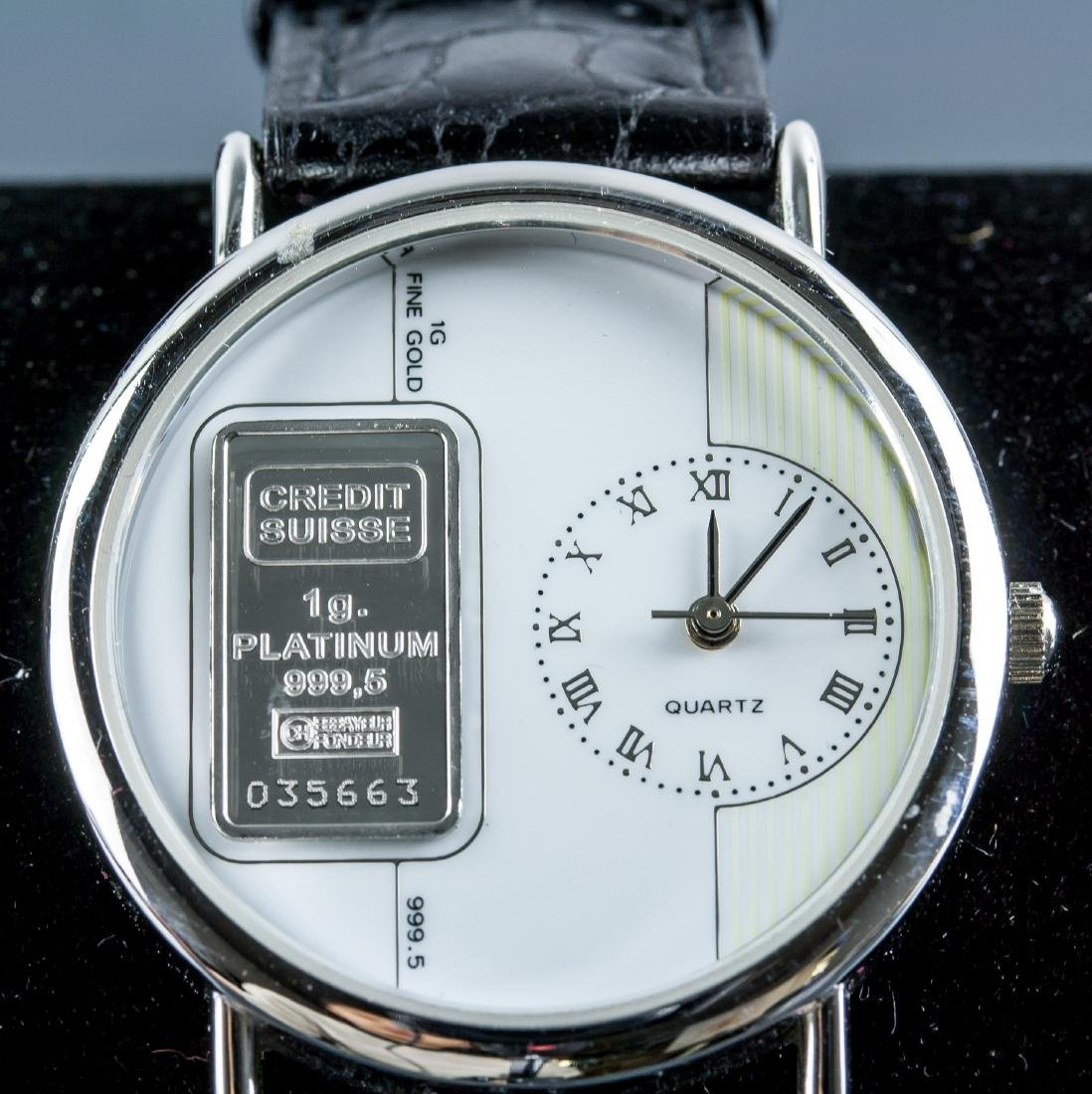 Credit Suiss 1g 999.5 Platinum Ingot Watch w/Cert