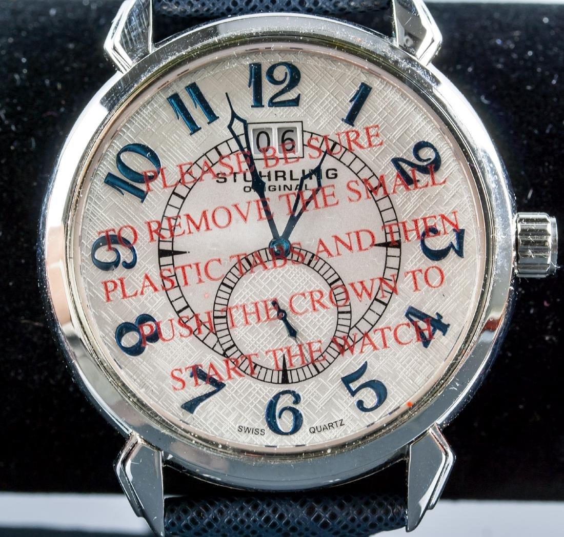 Stuhrling Original Genuine Leather Blue Watch