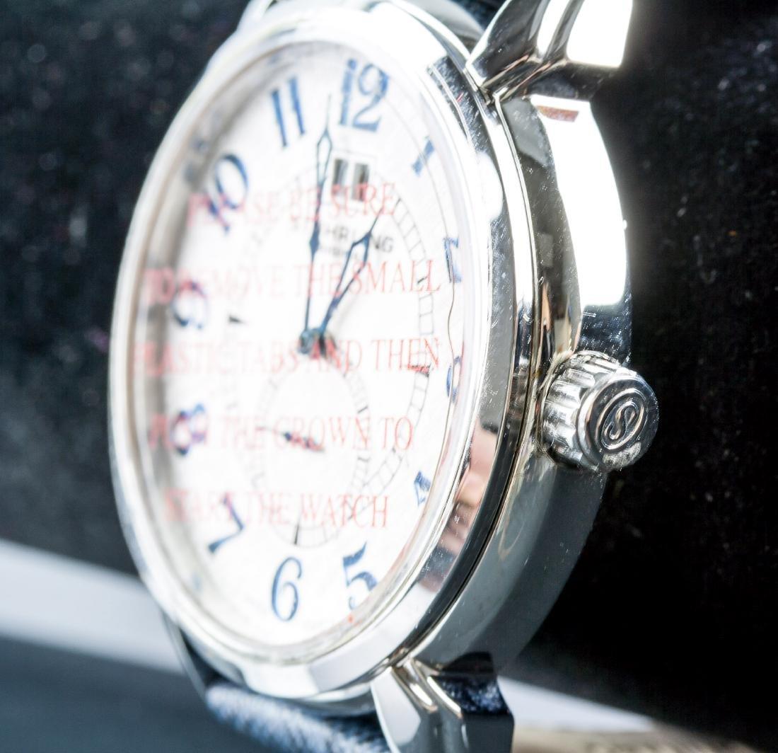 Stuhrling Original Genuine Leather Blue Watch - 2