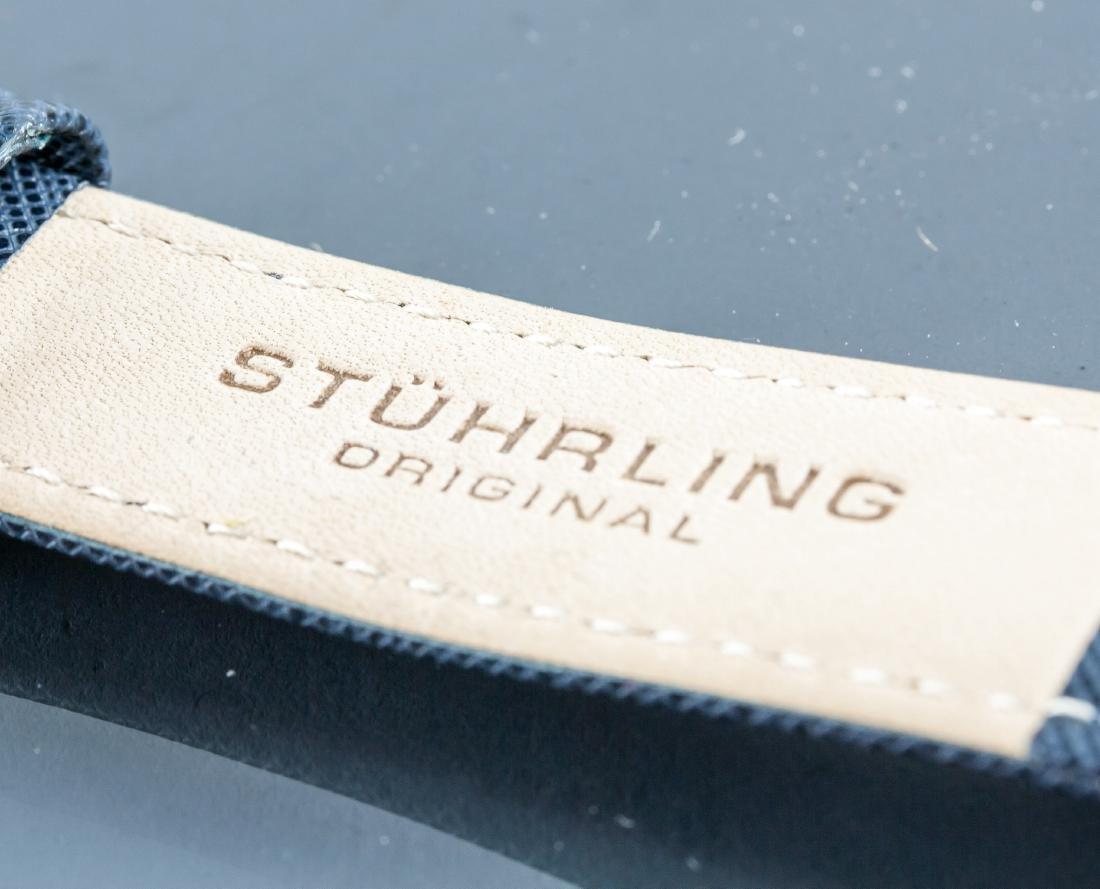 Stuhrling Original Genuine Leather Blue Watch - 4