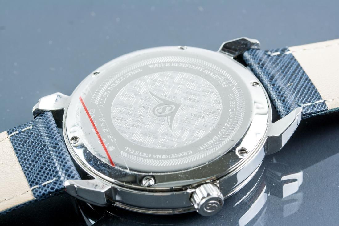 Stuhrling Original Genuine Leather Blue Watch - 5