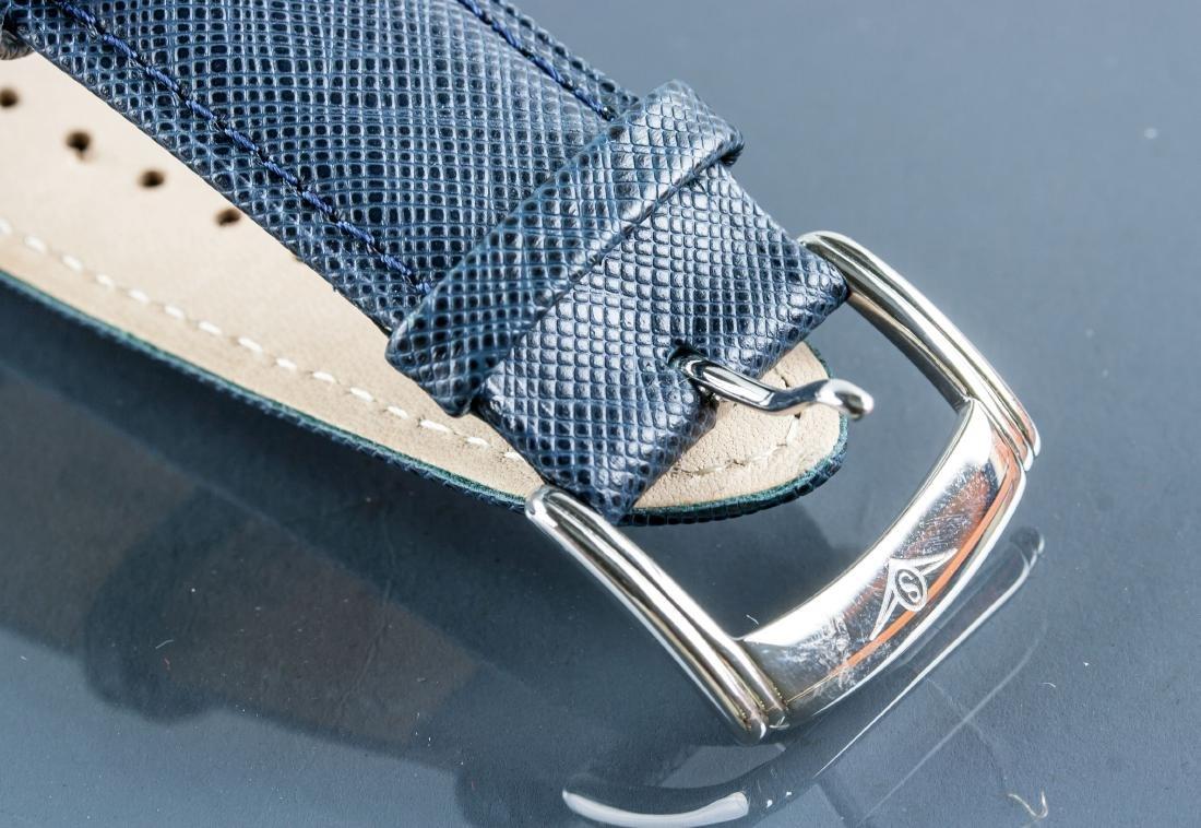 Stuhrling Original Genuine Leather Blue Watch - 6