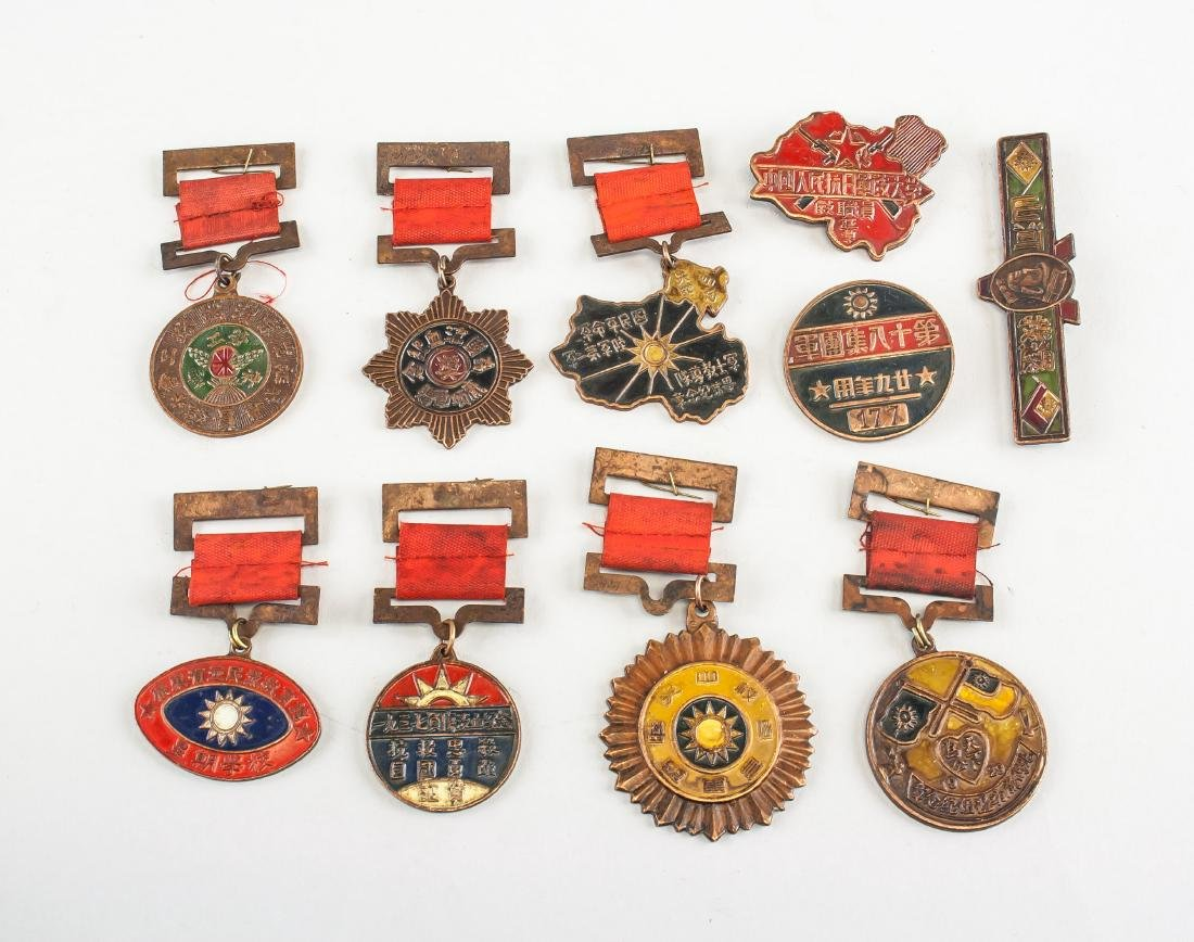 10 Assorted Chinese Medals