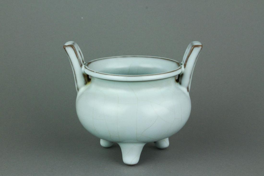 Song/Yuan Type Chinese Guan Porcelain Censer w/ MK