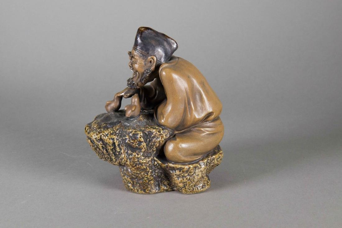 Chinese Zisha Carved Ji Gong Figure