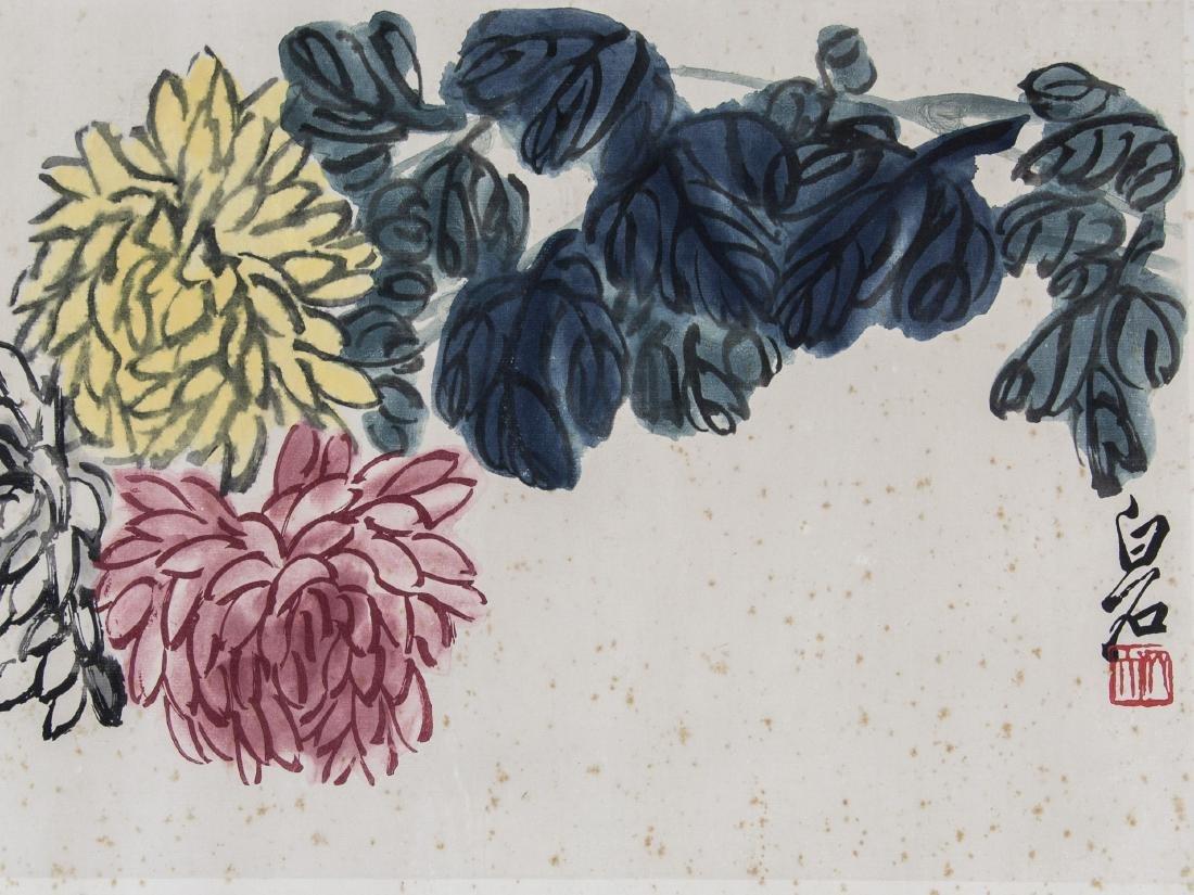 Qi Baishi 1864-1957 Chinese Watercolour Paper Roll