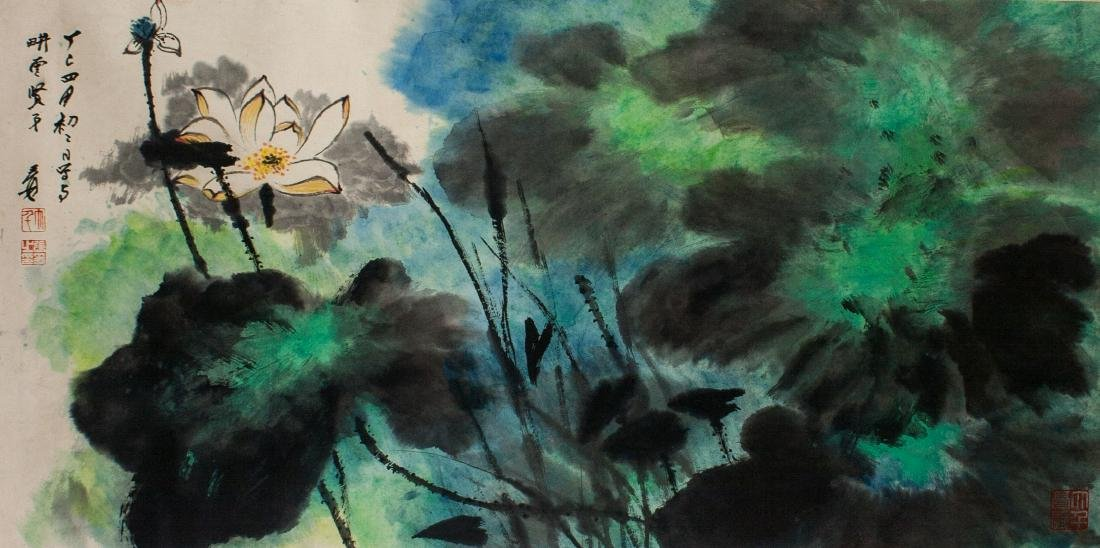 Zhang Daqian 1899-1983 Chinese Watercolour Scroll - 3