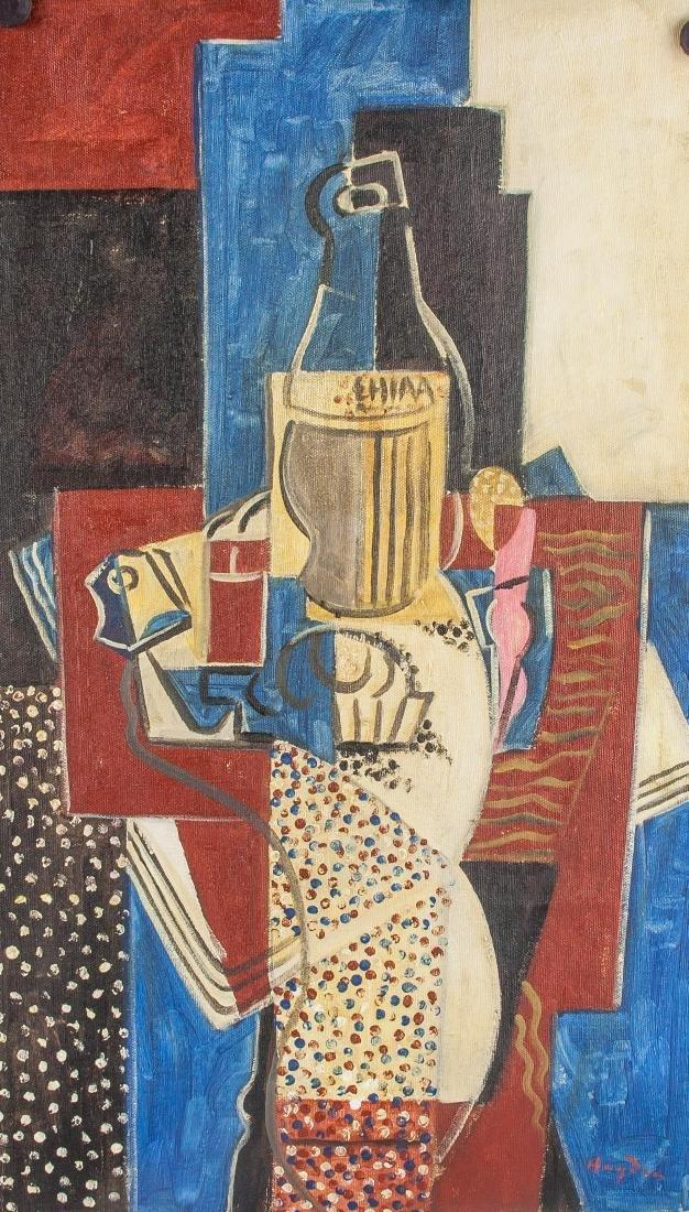 Henri Hayden Polish 1883-1970 Acrylic Cubist