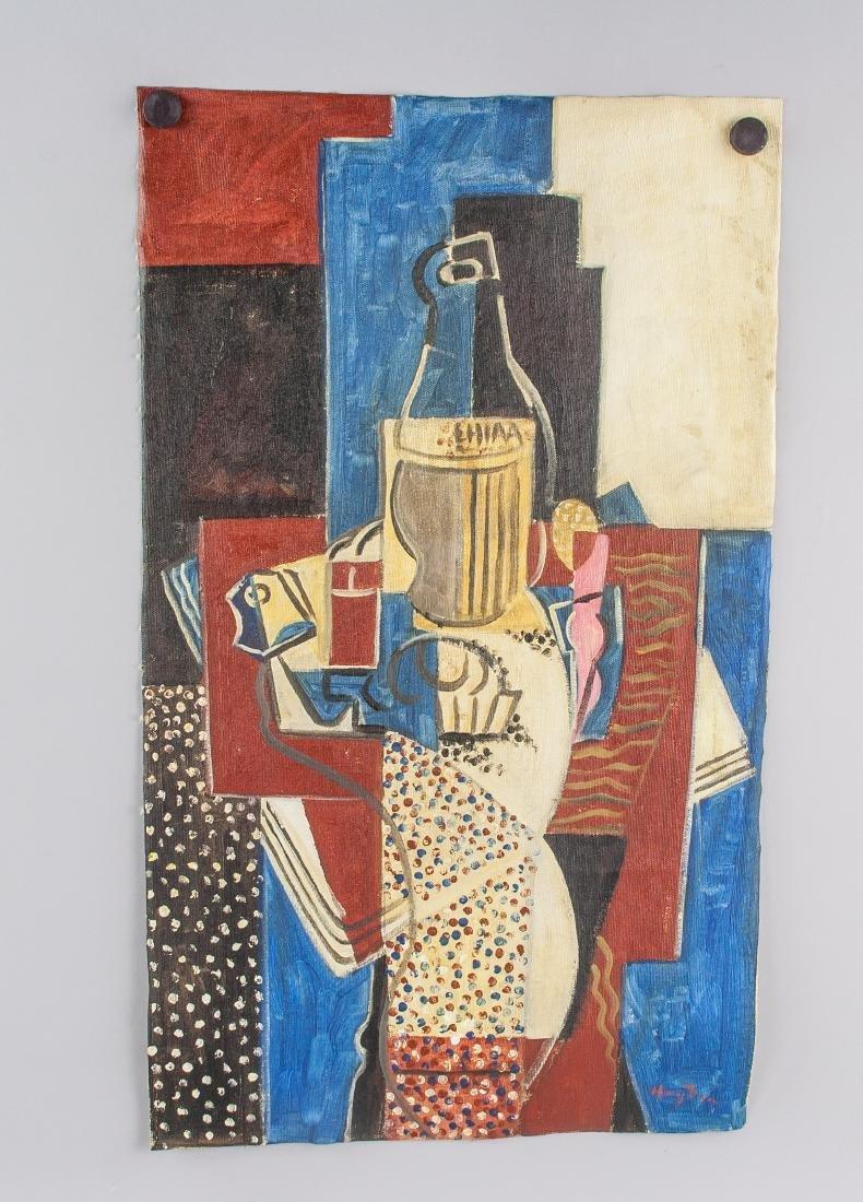 Henri Hayden Polish 1883-1970 Acrylic Cubist - 2