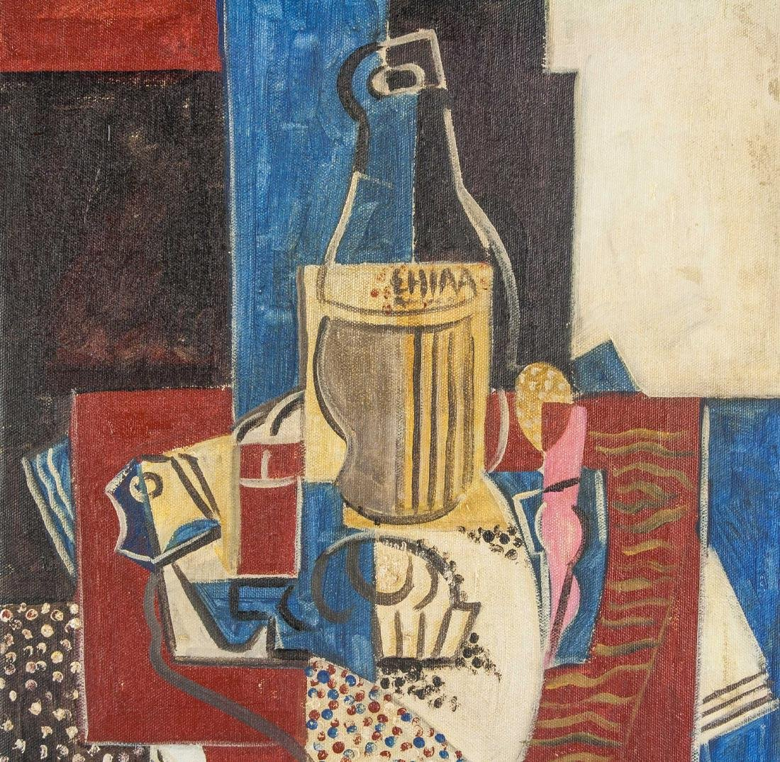 Henri Hayden Polish 1883-1970 Acrylic Cubist - 3
