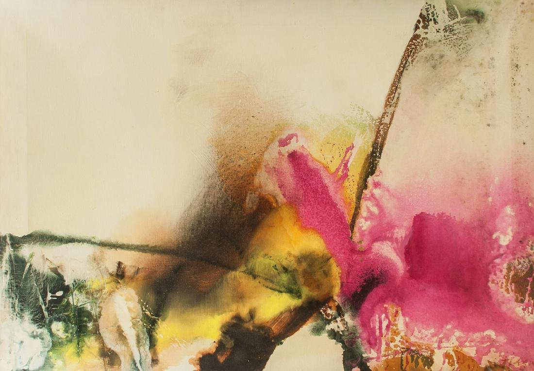 Chuang Che b.1934 Taiwan Acrylic & Oil Provenance