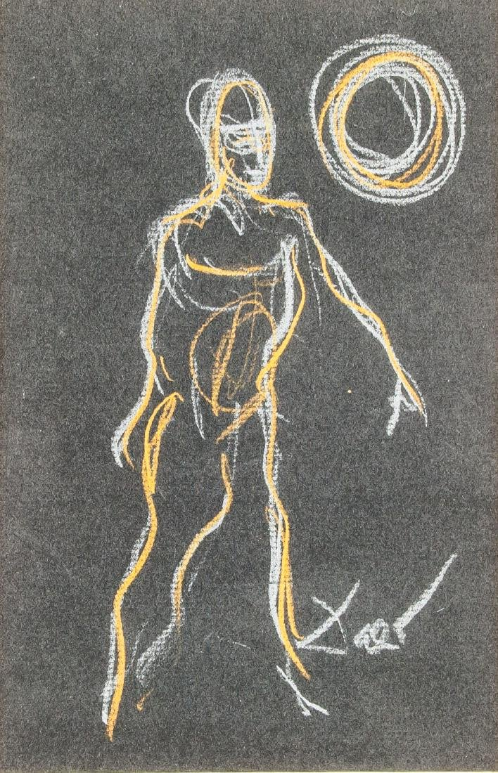 Salvador Dali 1904-1989 Spain Chalk Figure
