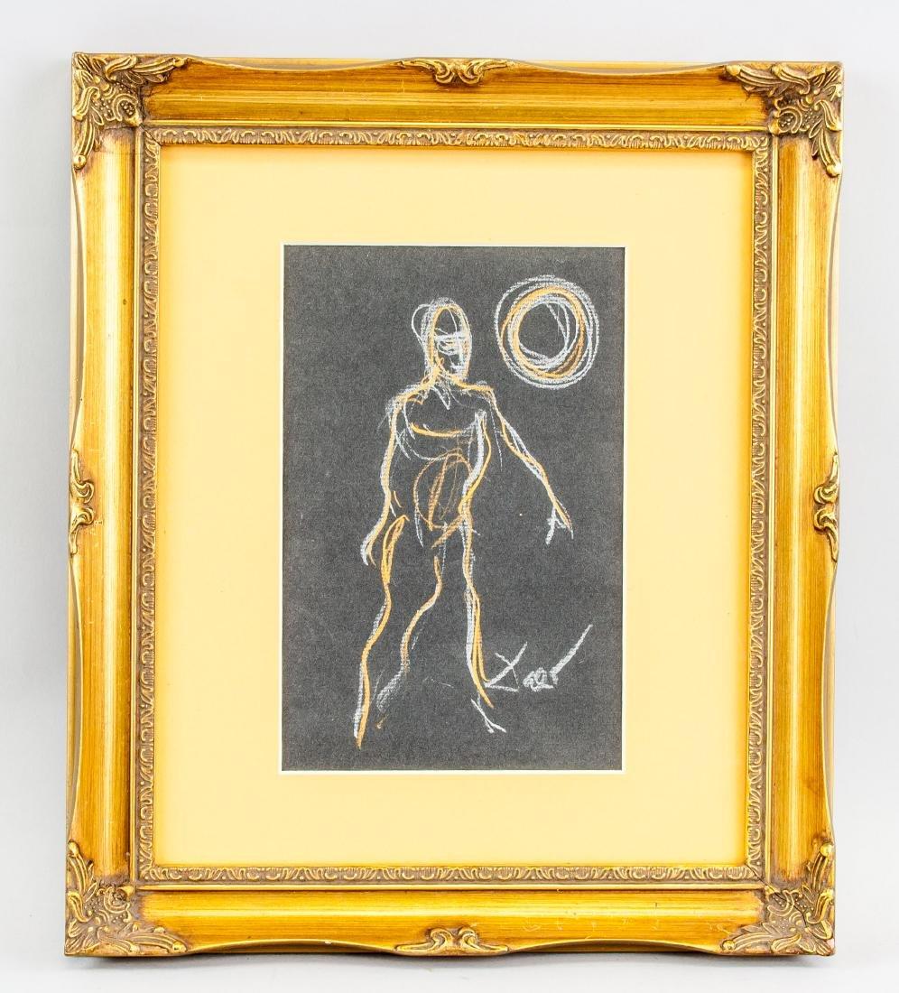 Salvador Dali 1904-1989 Spain Chalk Figure - 2