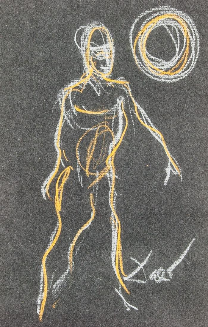 Salvador Dali 1904-1989 Spain Chalk Figure - 3