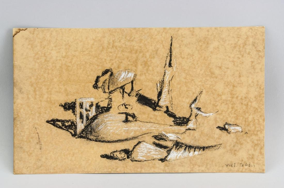 Yves Tanguy 1900-1955 French Charcoal Chalk Study - 2