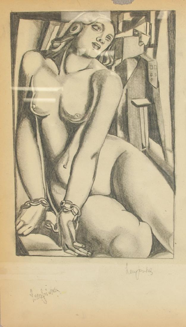 Tamara de Lempicka 1898-1980 Polish Charcoal Study