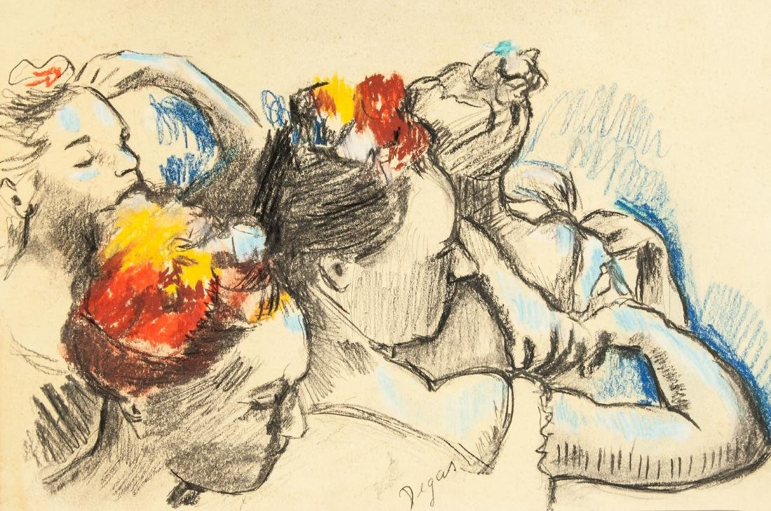 Edgar Degas 1834-1917 French Pencil & Crayon Paper