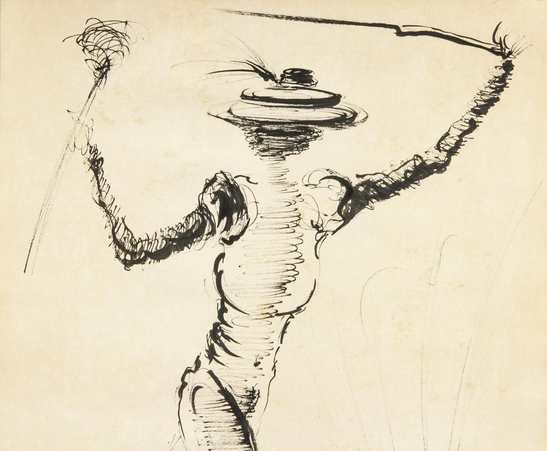 Salvador Dali 1904-1989 Spain Ink Study Figure - 3