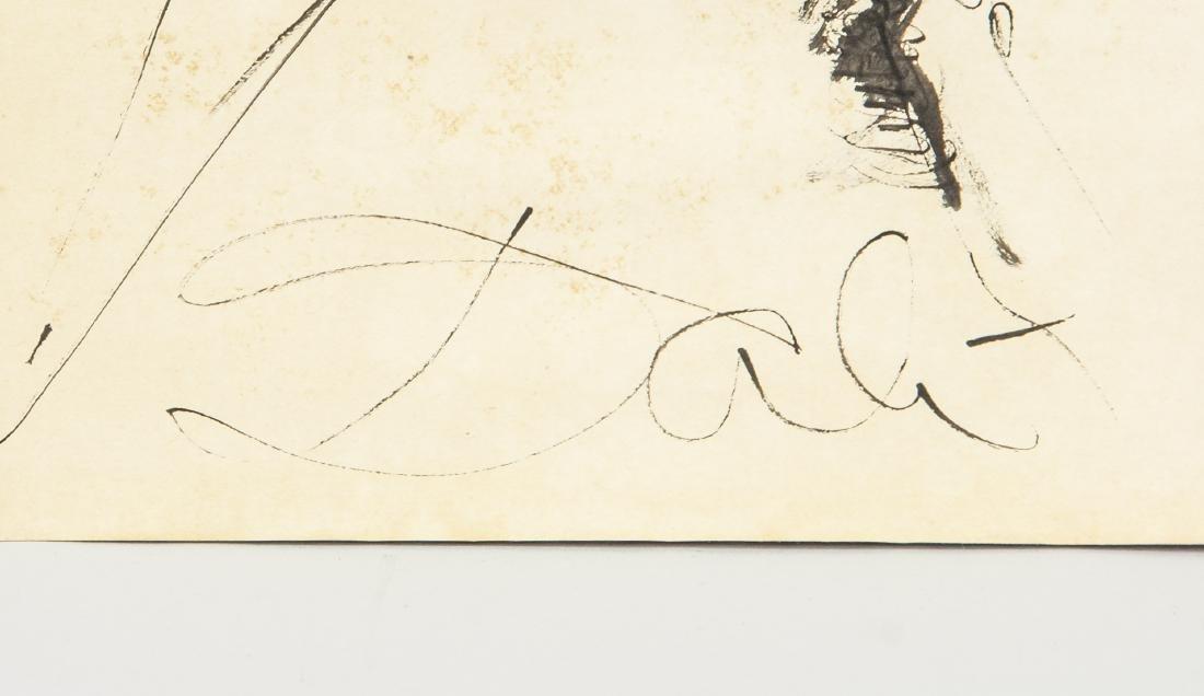 Salvador Dali 1904-1989 Spain Ink Study Figure - 4