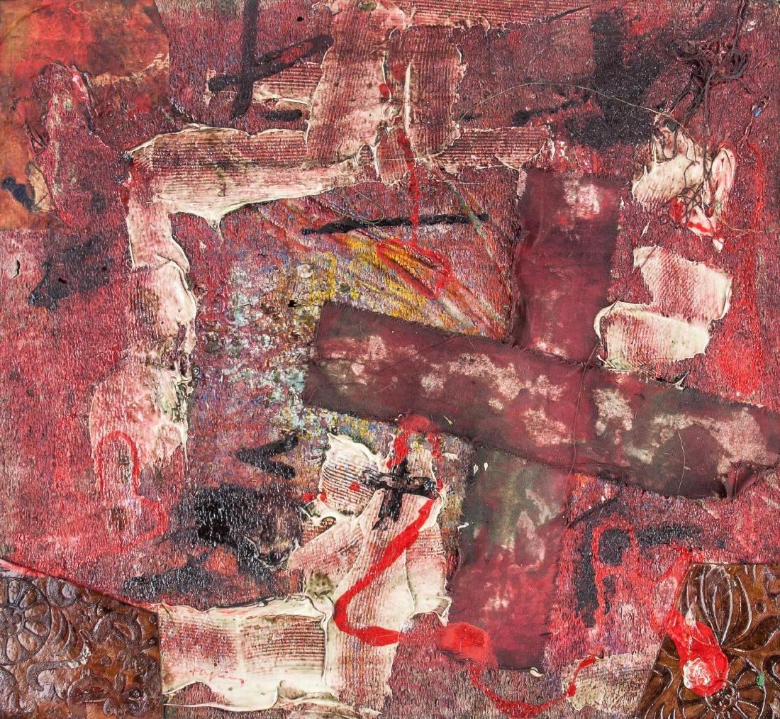 Antoni Tapies (Spain 1923-2012) Mixed Media