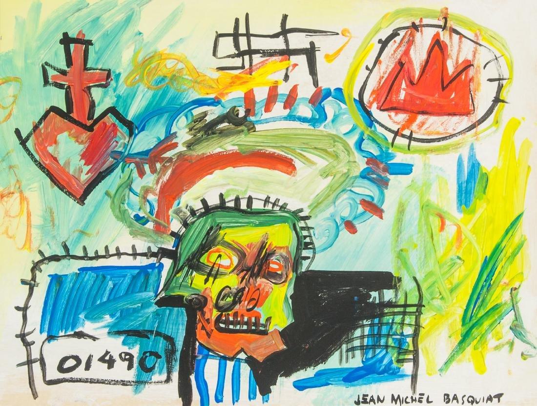Jean-Michel Basquiat 1960-1988 US Mixed Media Head