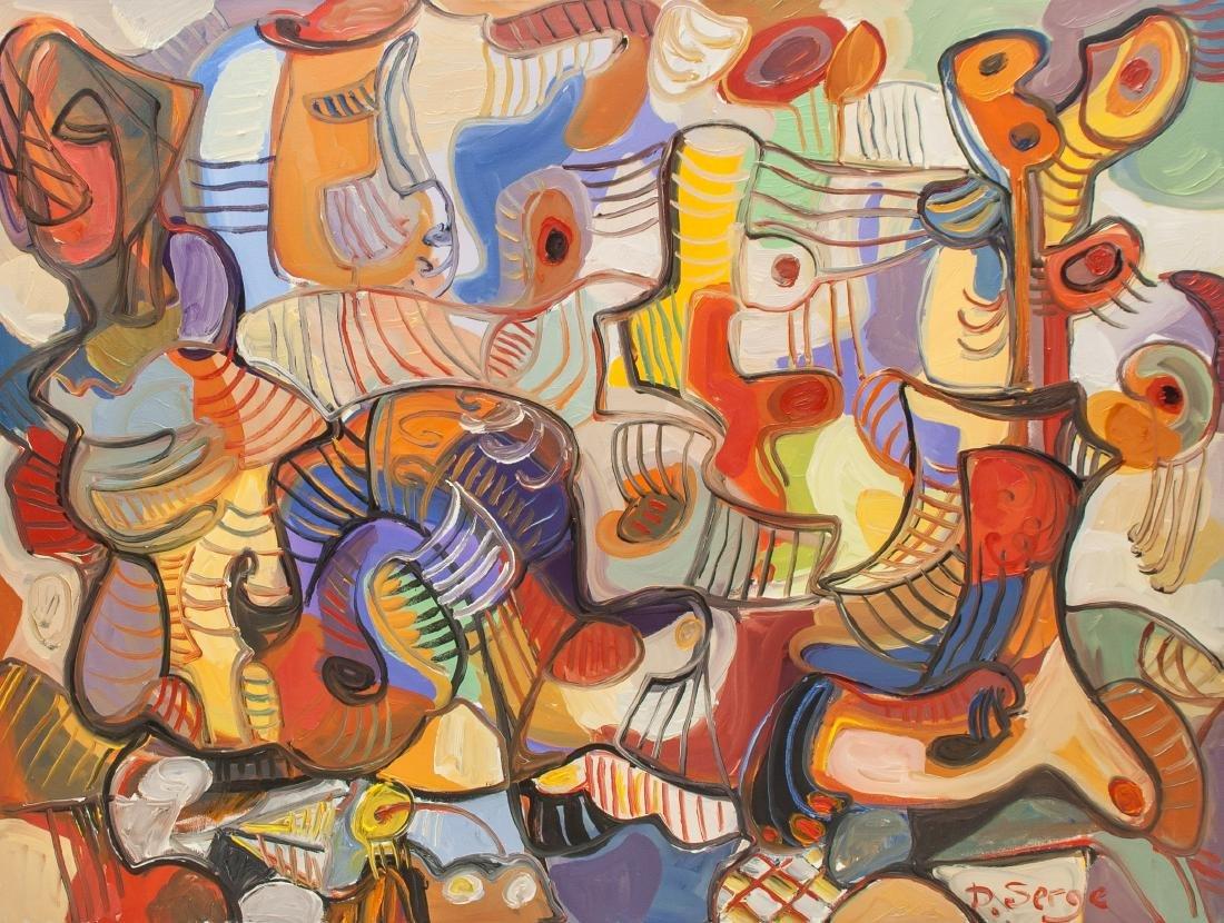 Serge Deherian b.1955 Canada Oil Abstract