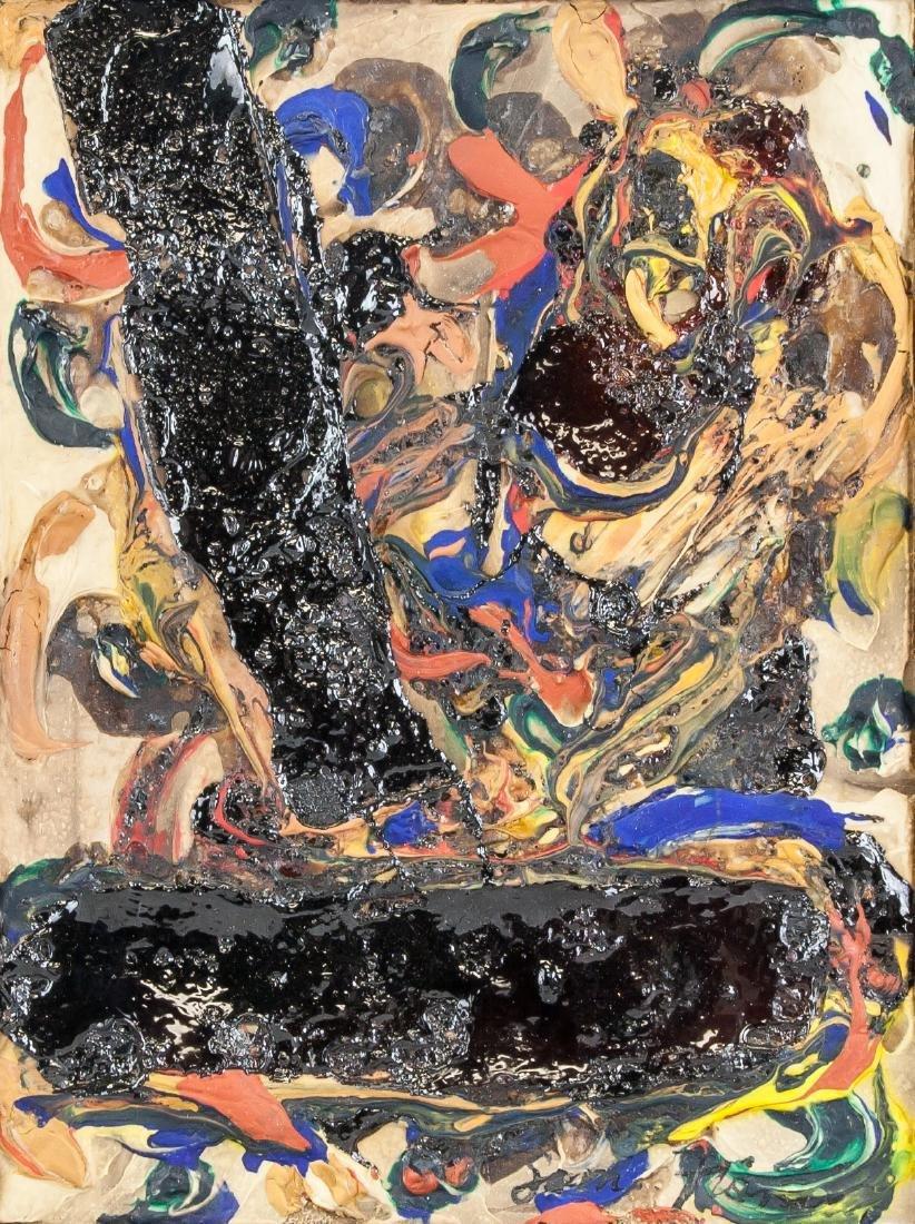 Sam Francis (American 1923-1994) Oil on Board