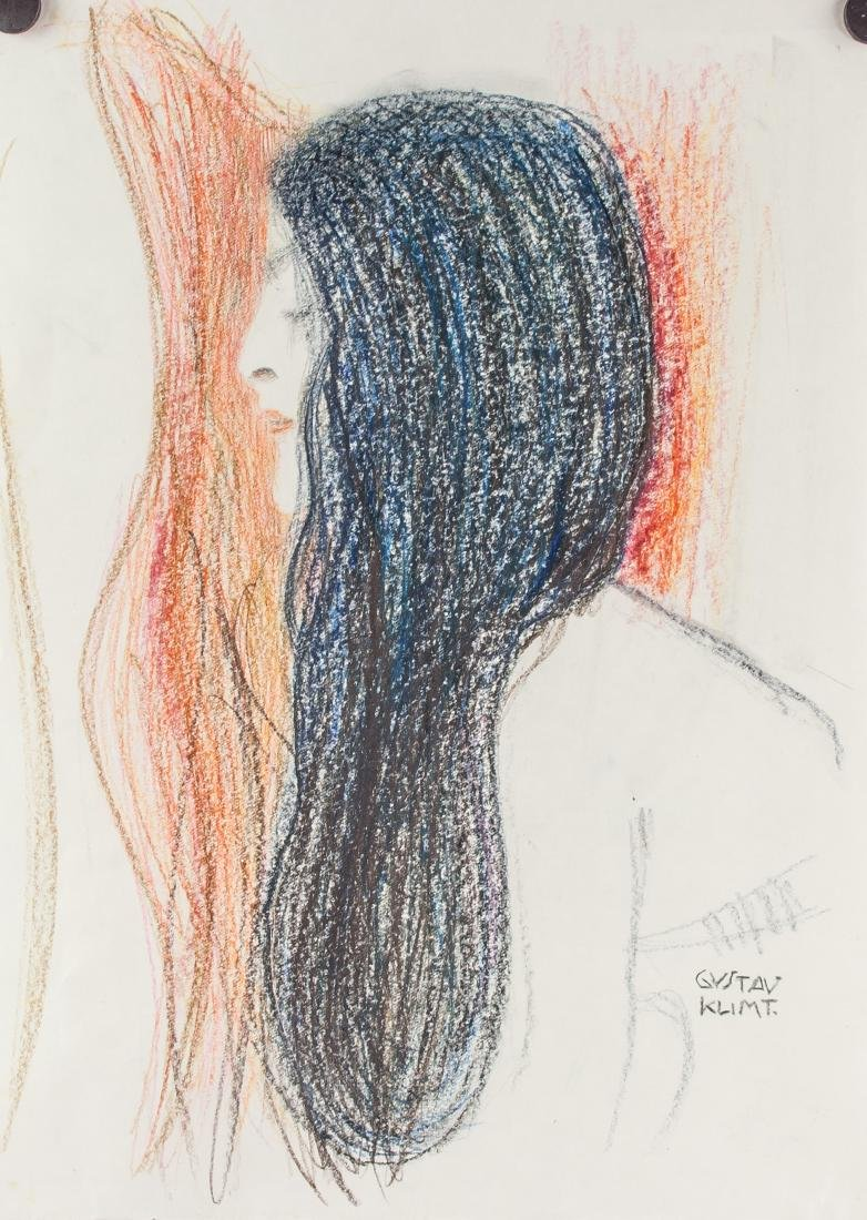 Gustav Klimt Austrian 1862-1918 Pastel Lady